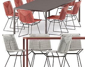 3D NEIL TWIST CHAIR and TENSE OUTDOOR TABLE by Mdf Italia