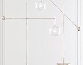 3D Restoration Hardware Glass Globe Mobile LEVER FLOOR 1