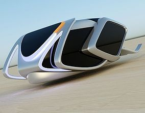 HoverBug futuristic vehicle 3D