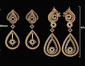 Diamond Earrings we love 3D printable model