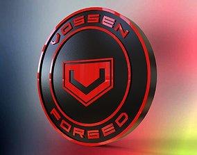 Free Vossen logo 3D model