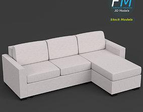 3D Angular couch sofa