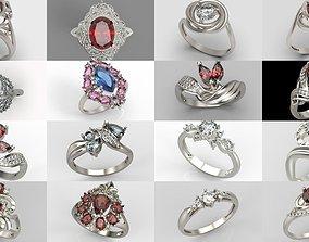 Rings set 3D model