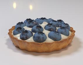 Blueberry tartlet cake 3D