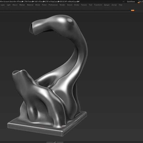 Modern Abstract Decorative sculpture 3d print model 35