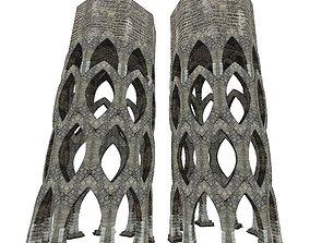 3D asset Gatehouse 01 Aqueduct Circle Pillar 06
