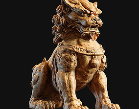 Chinese guardian lion foo dog 3D printable model