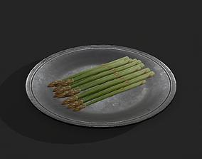 3D model Asparagus Plate