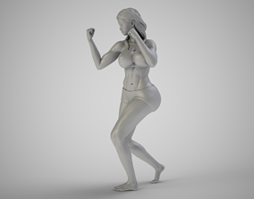 3D printable model Boxer Girl
