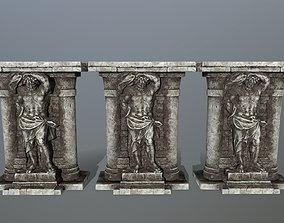 statue 2 3D asset low-poly