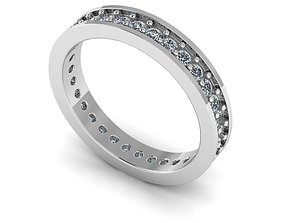 3D printable model Silver ring withdiamonds