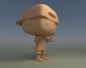 Custom Pop Boy Snapback Flat Bill DIY Figure 3D Print 1