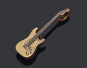 electric guitar pendant v 3D print model