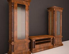 Classic wardrobe for the living room 3D model