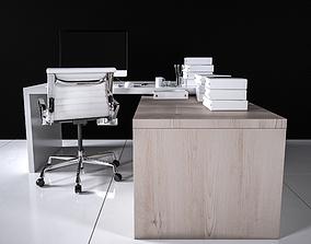 Office Desk - Interior Office Furniture 06 3D model