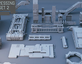 Scifi dressing kitbash set 2 3D asset