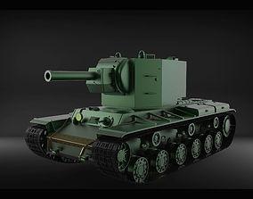 KV-2 tank USSR 3D