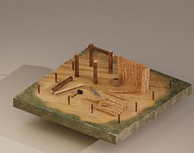 3D asset Building Foundation 2