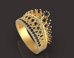 3D print model bright Crown ring