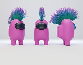 3D Among Us Mohawk Character
