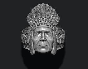 Native American Indian ring 3D printable model