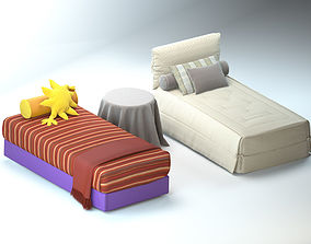 modern toddler bed set 3D model