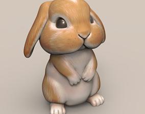Cute Rabbit Droopy Ears STL 3D print model