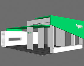 Exhibition Stand 3D model architectural