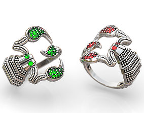 3D print model Scorpion ring rings