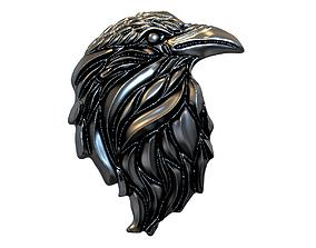 Raven relief pendant 3D print model