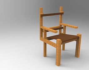3D print model Marcel Breuer-Slatted Chair