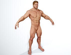 Realistic Muscular Man 3D model
