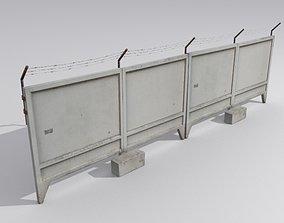 Fence 4 Russian concrete 3D asset