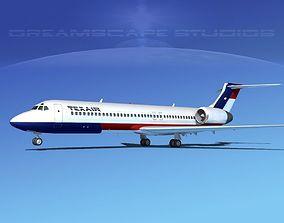 3D model Boeing 717-200 Texair 1