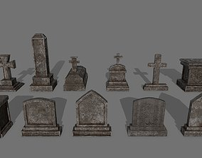 3D model Tombstone set 1