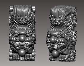 3D print model guardian lion