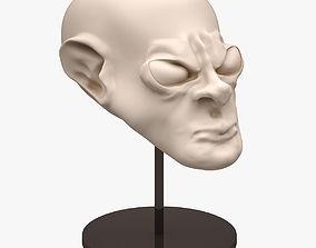 3D Alien Head Sculpt