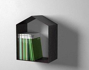 3D model Studio Shelf with Books