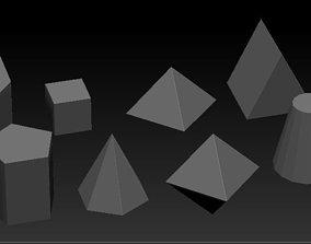 3D asset Basic geometrical shape pack