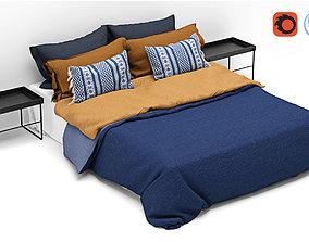 Bed Scandinavian style 3D