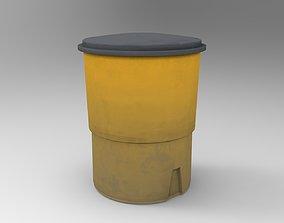 3D model game-ready Crash Barrel