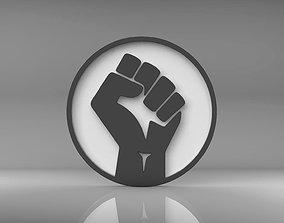 3D print model BLM Black Lives Matter Logo Symbol Emblem