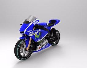3D asset yamaha m1 bike