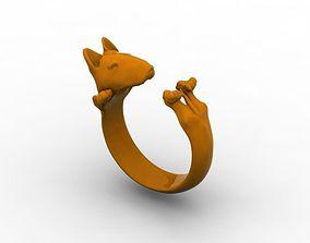 3D printable model terrier dog ring