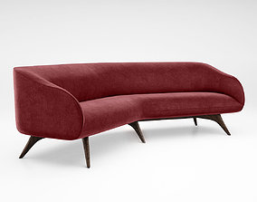 3D model Vladimir Kagan Fifth Avenue Angled sofa