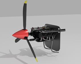 3D asset Lycoming O-540