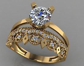 GC GOLD TW0141- Diamond ring 3D print model