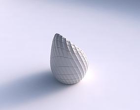 Vase Tide twisted with strange tiles 3D print model