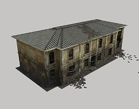 3D model Ruined House 01
