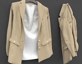 3D model women blazer